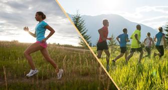 běhání solo versus skupina