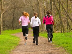 běhání ve skupině