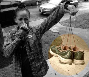 zápach běžeckých bot