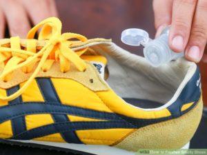 běžecké boty zápach