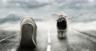 běhání v dešti