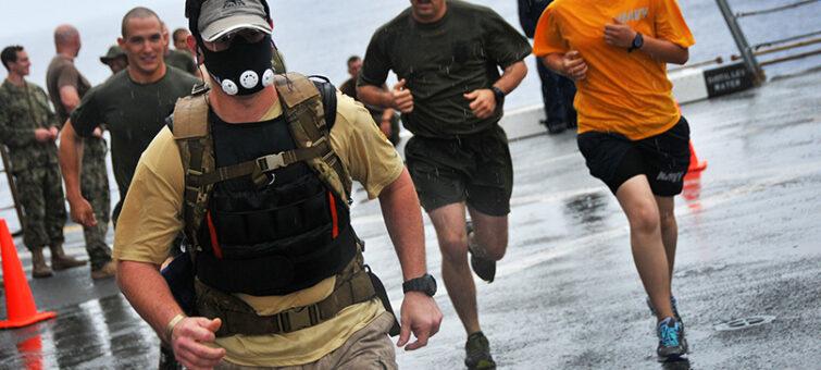 běhání s maskou