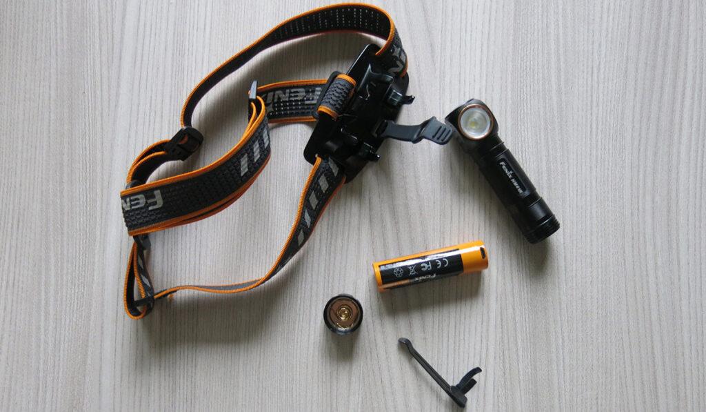 součásti čelovky fenix amber